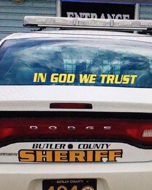 mark dobbs butler co dodge sheriff car IN GOD WE TRUST august 2015