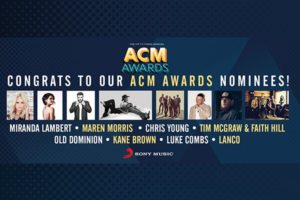 sony music nashville acm nominees 2018